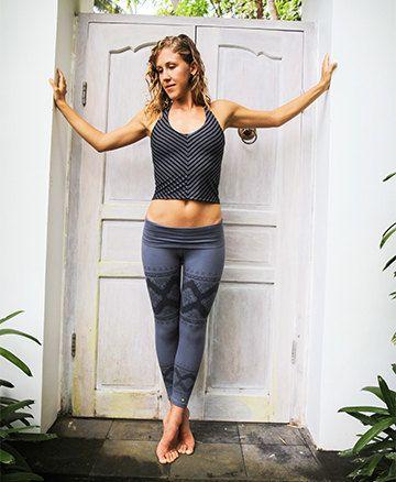 Mermaid Top - BLACK - cotton lycra - yoga, athletic, gym, dance ...