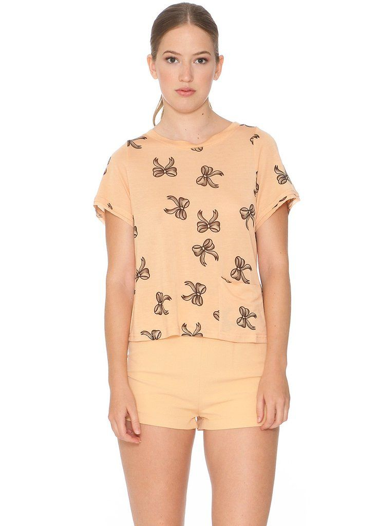 Camiseta manga corta color salmón – Cositas de España