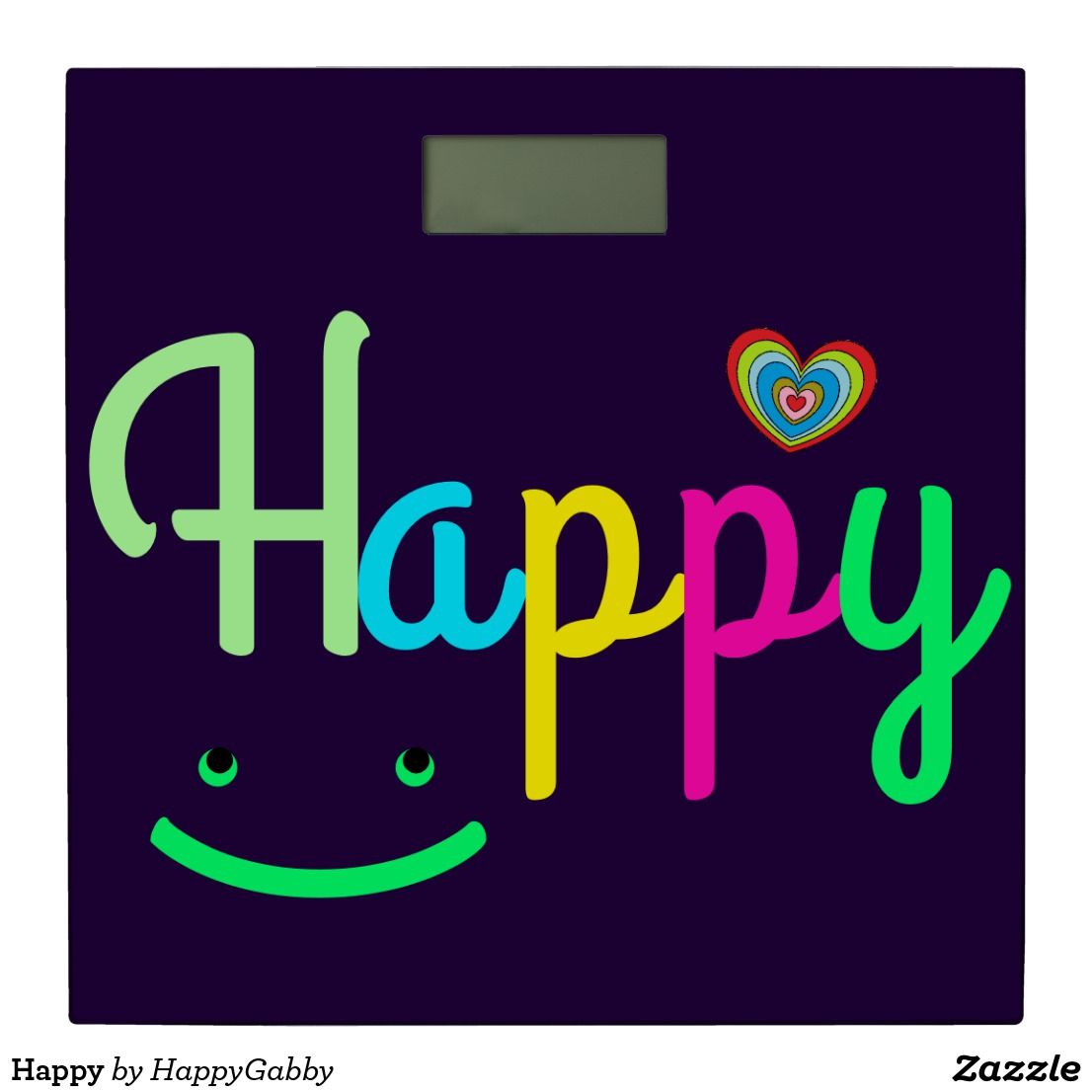 Happy Bathroom Scale | Zazzle.com in 2020 | Happy words ...