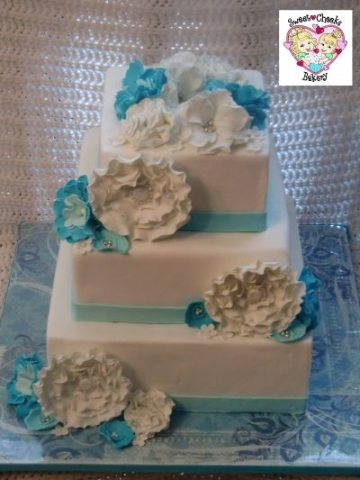 Fantasy Flower Wedding Cake By sweetcheeksbakery on CakeCentral.com