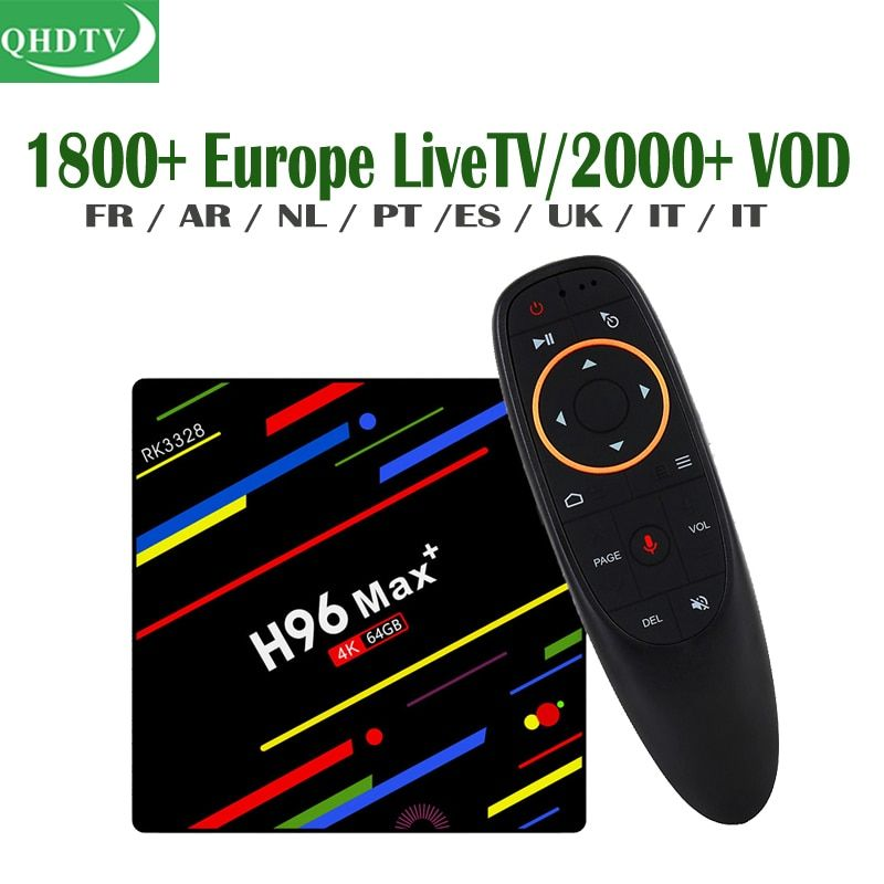 Google Voice Control H96 QHDTV IPTV Box Android French