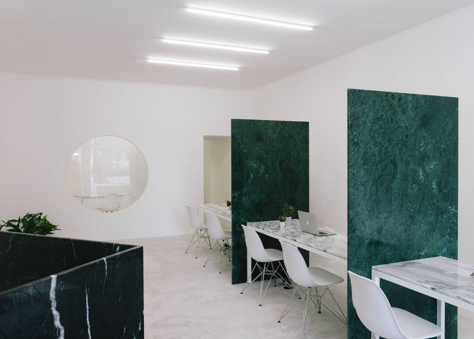 Estate Agents Featuring Partitions And Furniture Made From