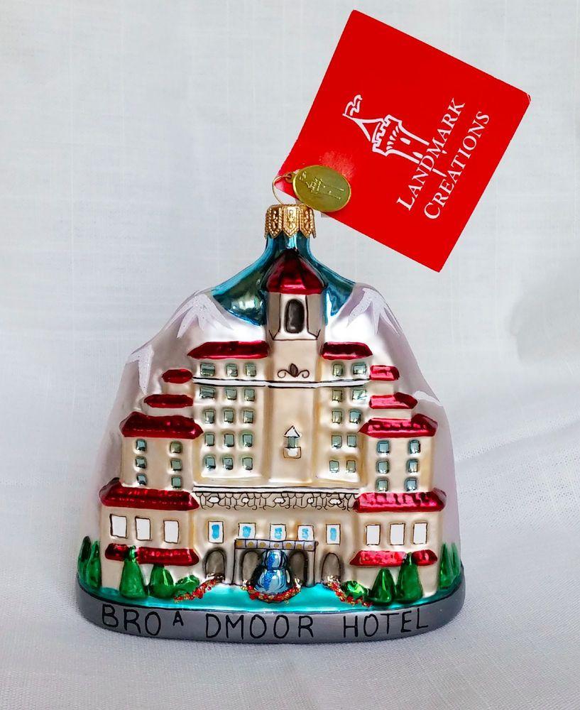 Charming Colorado Christmas Ornaments Part - 11: Landmark Creations Broadmoor Hotel Ornament Colorado Christmas NWT Glass  Rare