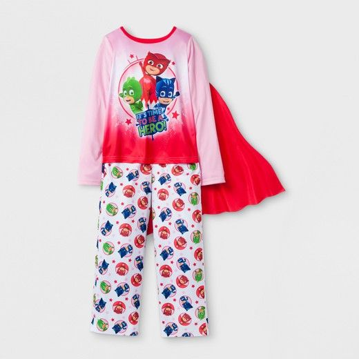 PJ Masks Toddler Girlsu0027 PJ Masks 2pc Pajama Set With Cape   Pink