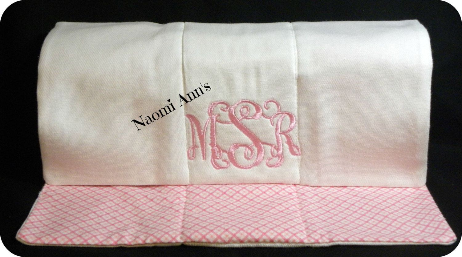 Vine monogram personalized baby girl burp cloth great shower gift personalized baby girl shower gift cotton diaper burp cloth by naomianns on etsy negle Images