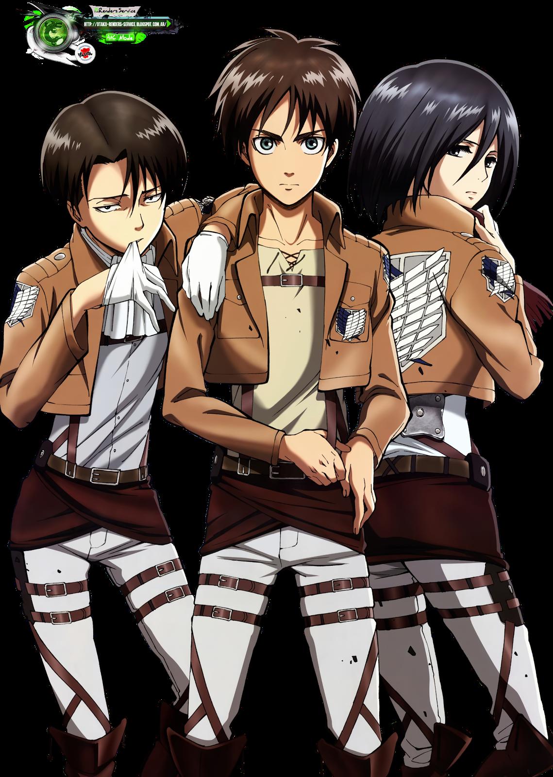 Levi Eren Mikasa Attack On Titan Anime Attack On Titan Eren Attack On Titan