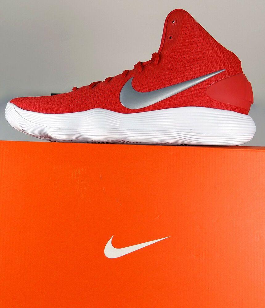 hot sales 8a116 2850c Nike Hyperdunk 2017 TB 897808-600 University Red Metallic Silver  Sz 11.5      eBay