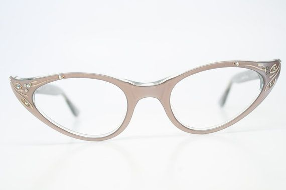 a41d22c478d Rhinestone Cat Eye Glasses Cateye Eyeglasses NOS Vintage Mink ...