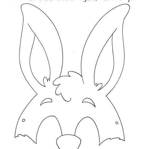 Tavşan Maskesi 1 Tavşan Maskesi Yapımı Ve Kalıbı Tavşan Maskesi 2