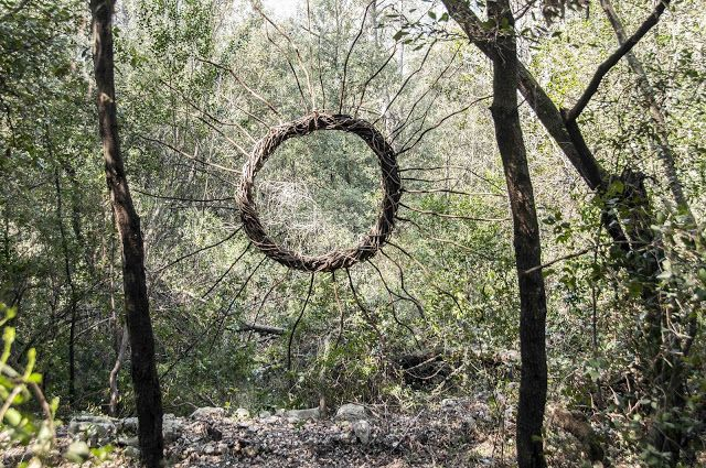 A Year in a French Forest: Sculpture 22. Forest Sculptor Spencer Byles.