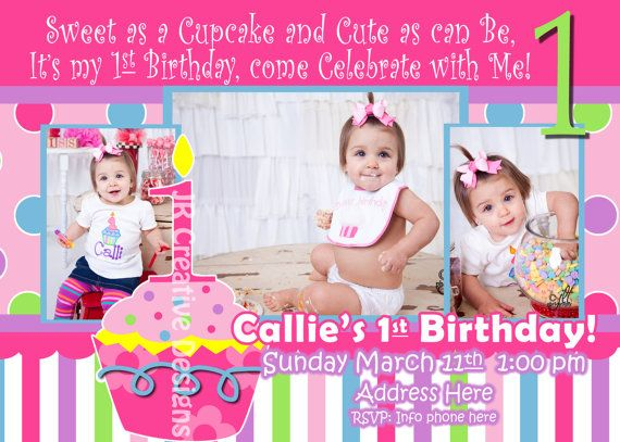 Invitations Claires First Birthday Pinterest Birthday