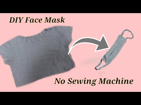 How To Make Face Mask From T Shirt No Sewing Machine Diy Dust