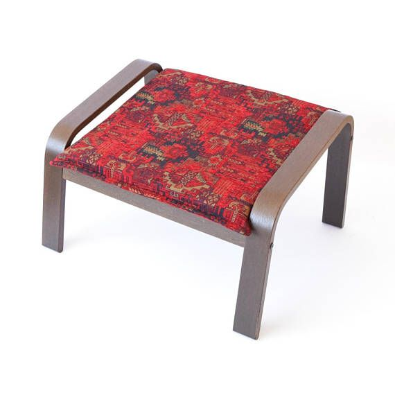 Ikea Poang Ottoman Footstool Fabric Cover F02 Slipcovers For