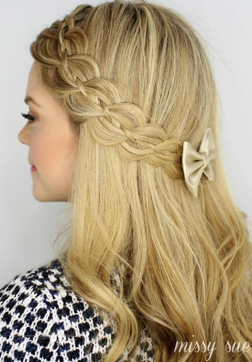 Sweet 16 Hairstyles 20 Trendy Half Braided Hairstyles  Pinterest  Sweet 16 Hairstyles