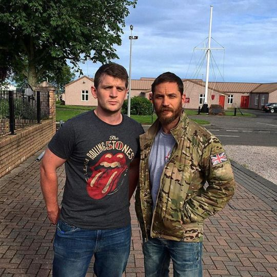 Tom Hardy visiting the 45 Commando in Arbroath (July 13, 2015).