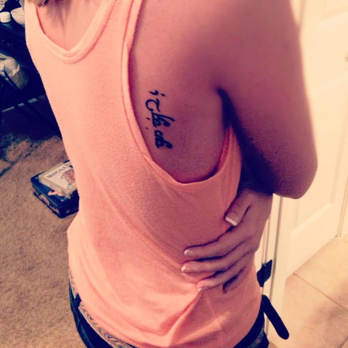 My first tattoo it means i love you in elvish its a special it means i love you in elvish its a special symbol for me and my loving boyfriend we both have a nerdy obsession for lord of the biocorpaavc