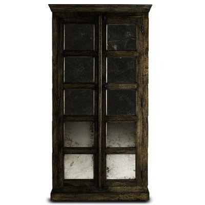Currey U0026 Company (3017) Kinsett Cabinet In Natural U0026 Black Patina