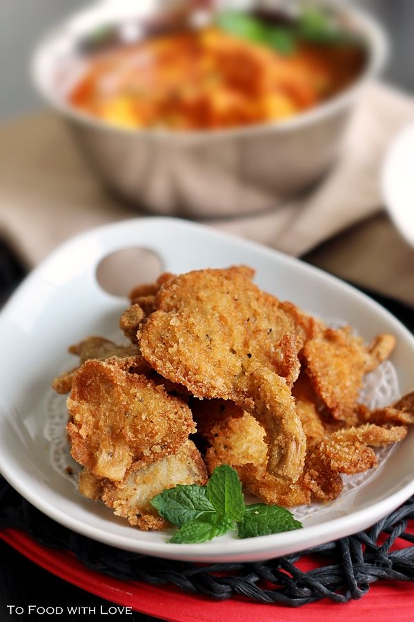 To Food With Love Deep Fried Crumbed Oyster Mushrooms Mushroom Recipes Fair Food Recipes Stuffed Mushrooms