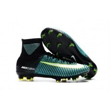 finest selection 01ea2 3c9dc Botas De Futbol Nike Mercurial Superfly V Light Aqua FG Verde Negro Blanco  Volt