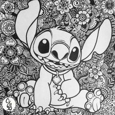 pincarrie grice on prints  stitch coloring pages disney coloring pages stitch drawing