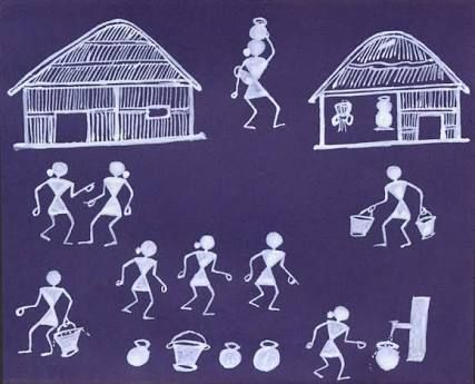 Image Result For Simple Warli Painting For Kids Art In 2019