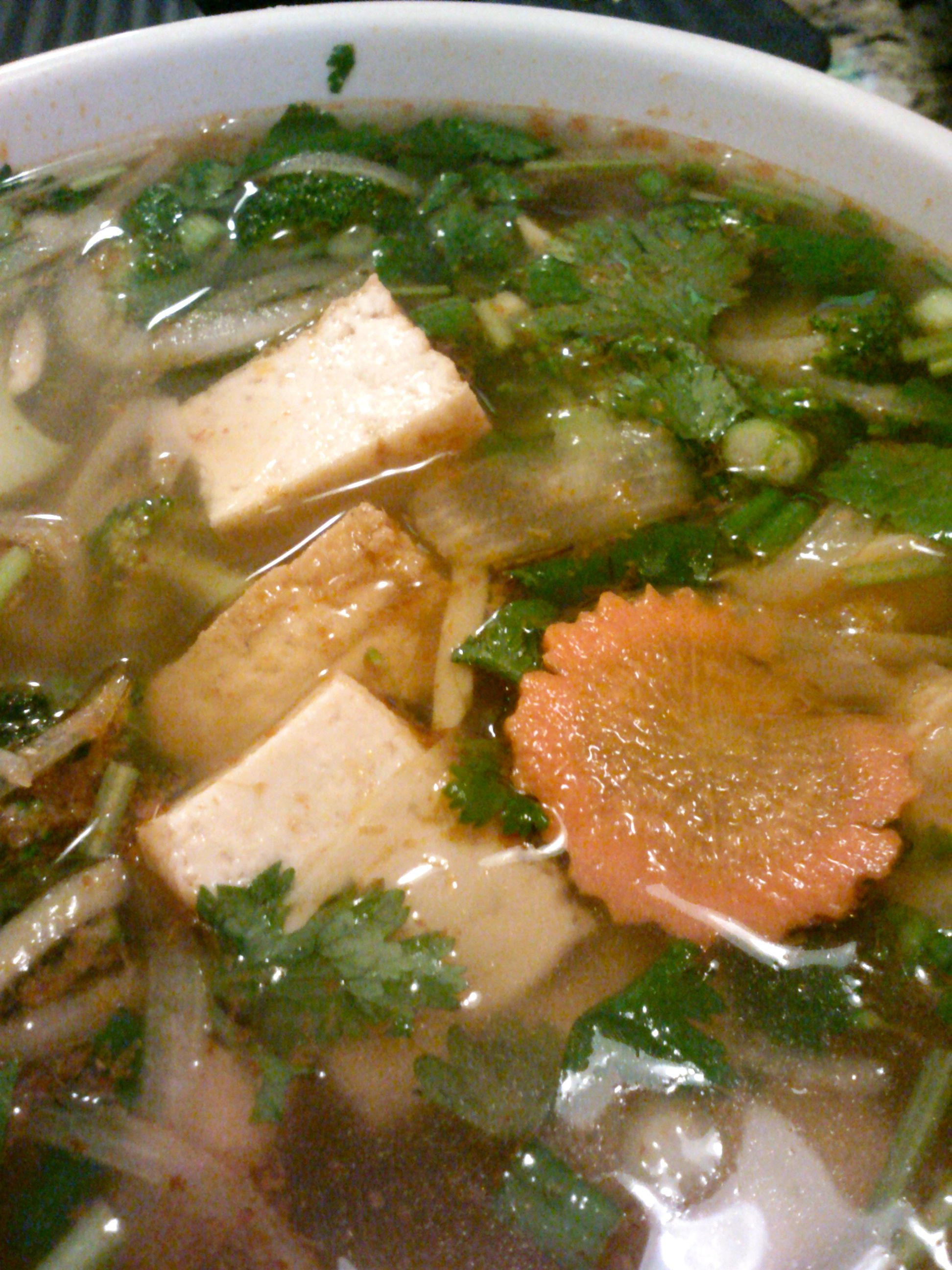 Saigon Noodle House In Birmingham Al Has Several Vegetarian Broth Pho Choices And Great Vegetarian Spring Rolls This Soup I