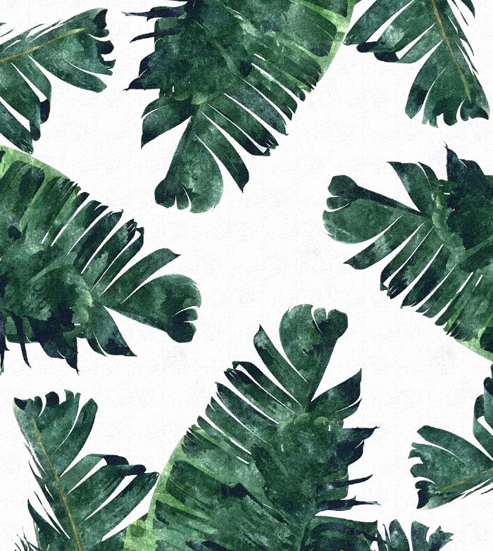 Watercolor Green Plants Monstera Nature Posters And Prints: Banana Leaf Watercolor Pattern #society6 Art Print By