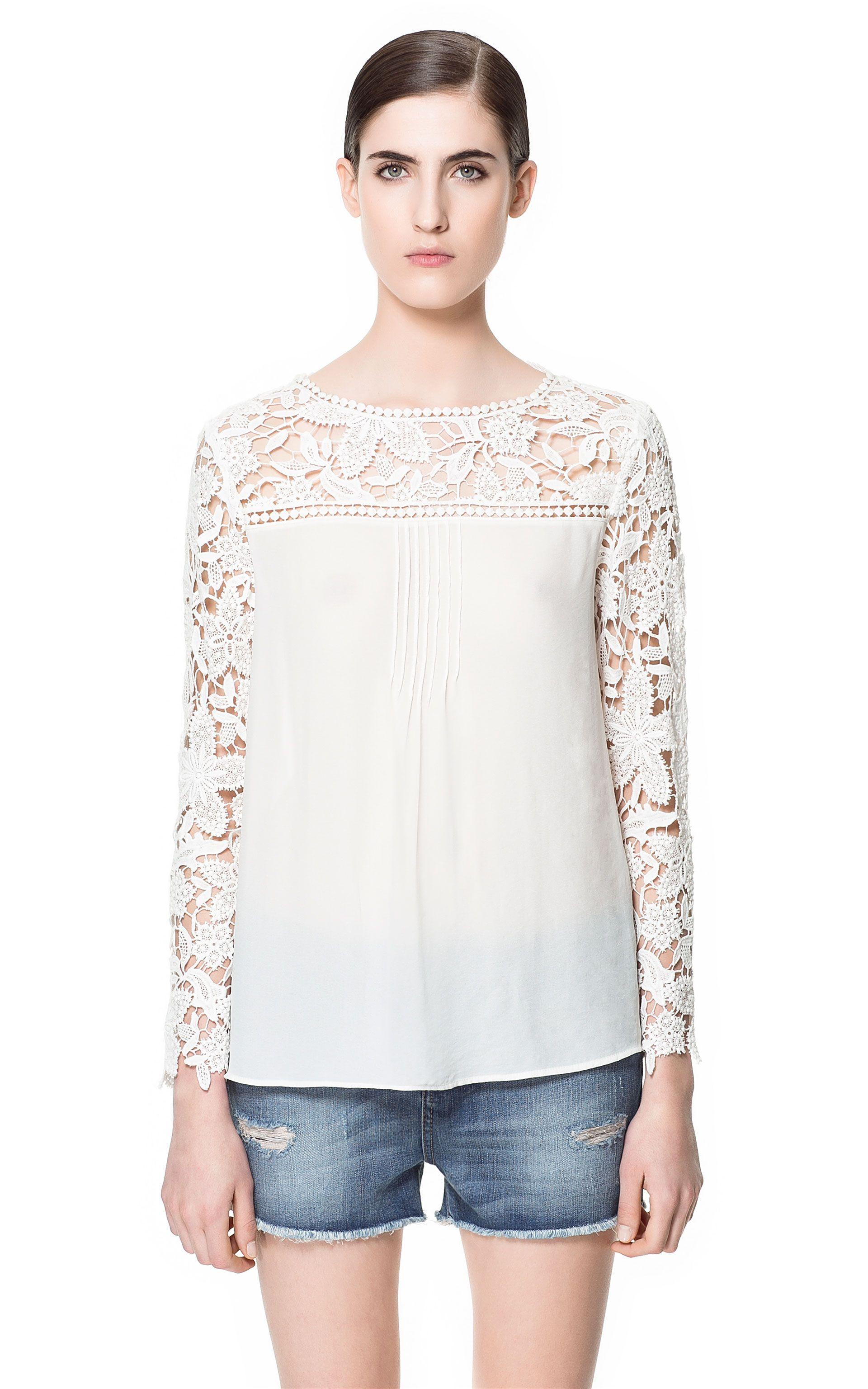 Semana Última Combinada Blusa Mujer Crochet Zara EspañaLo trdshQC