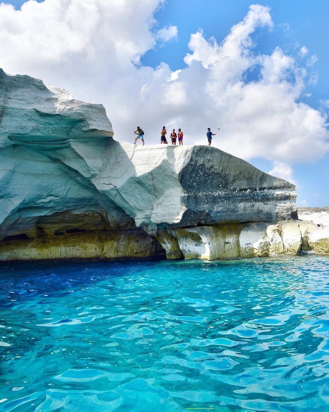 Sarakiniko Is A Beach On Milos Island Greece Dream Vacations Destinations Greece Travel Greek Islands