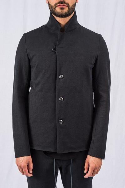 d5d56b8bb KK Attachment - Black Classic Three Button Hook Closure Jacket ...