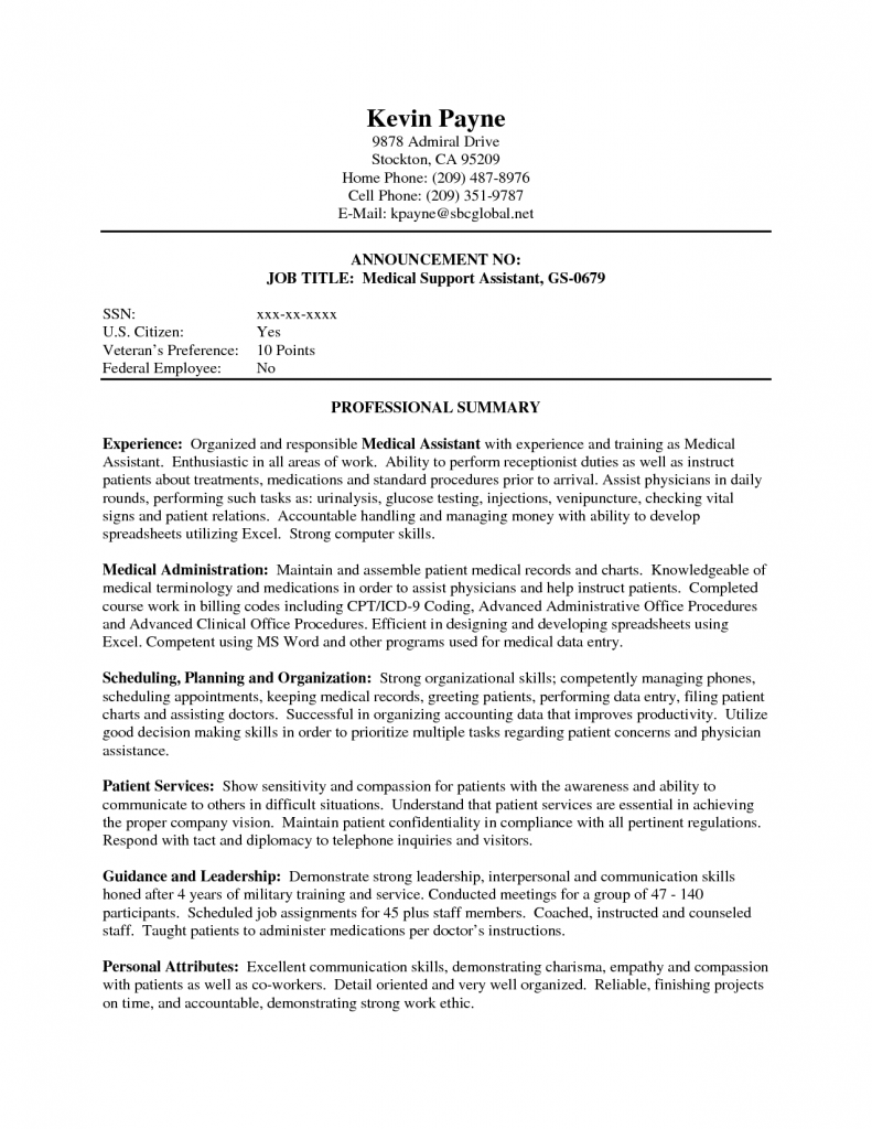 Medical Assistant Resume Template Account Executive Cover Letter Entry Levelcover Letter Samples