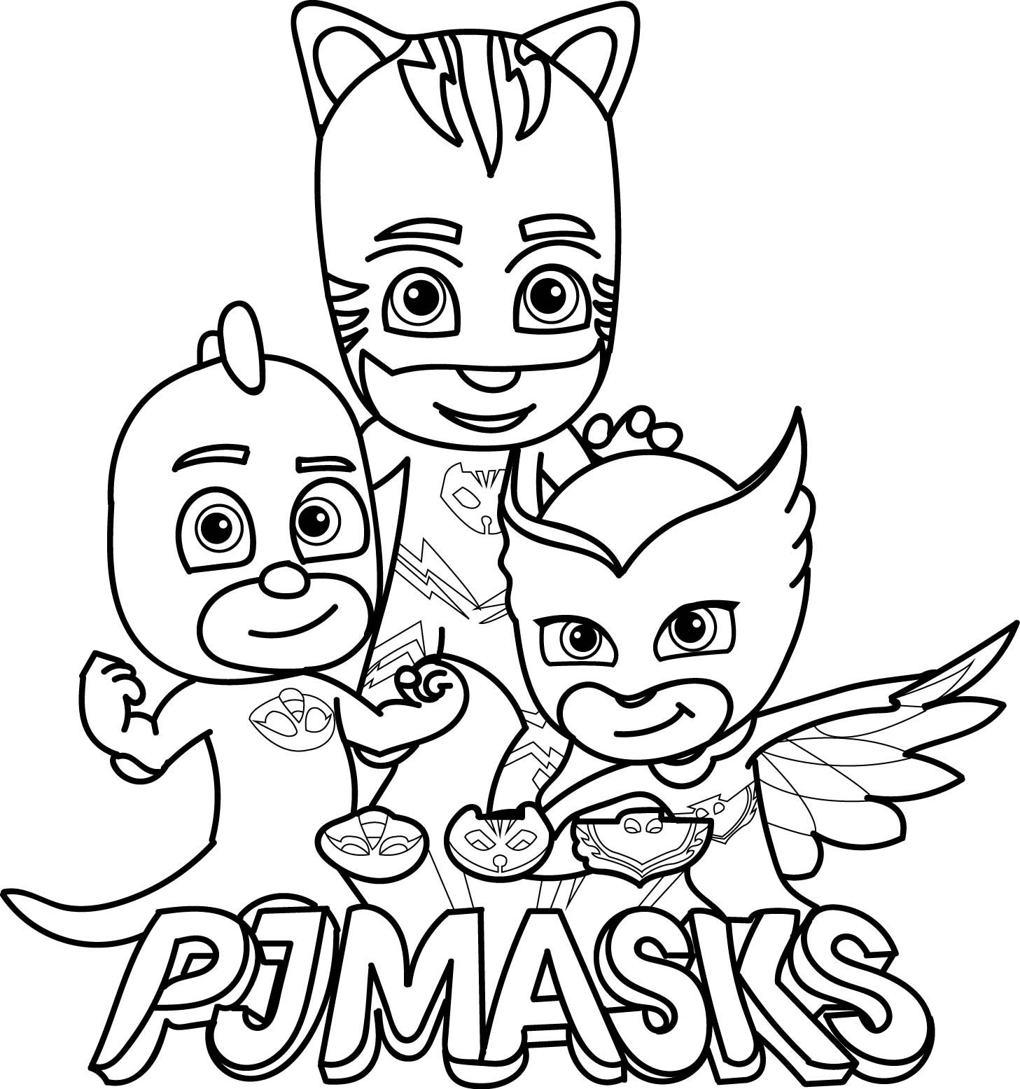 Pj Masks Coloring Page Coloring Pages For The Kids Pinterest