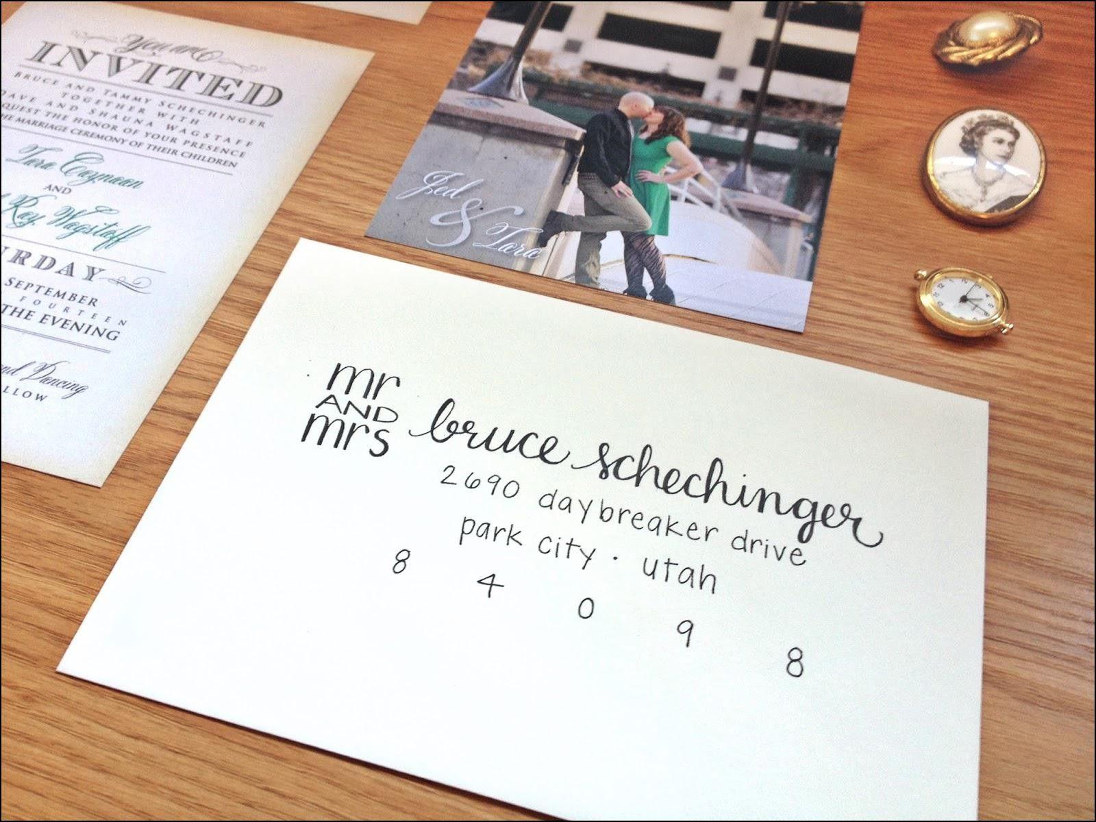 Addressing Wedding Invitations Widow Ideas