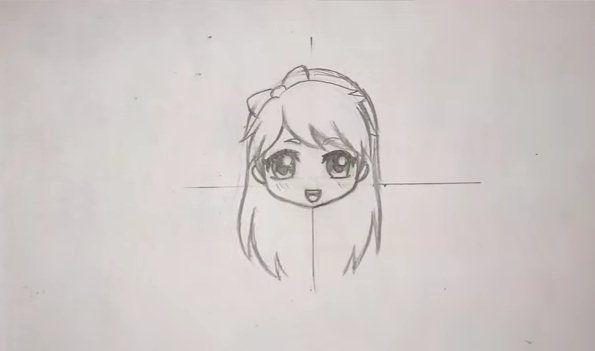 تعلم رسم الانمي بالرصاص بالصور Female Sketch Drawings Art