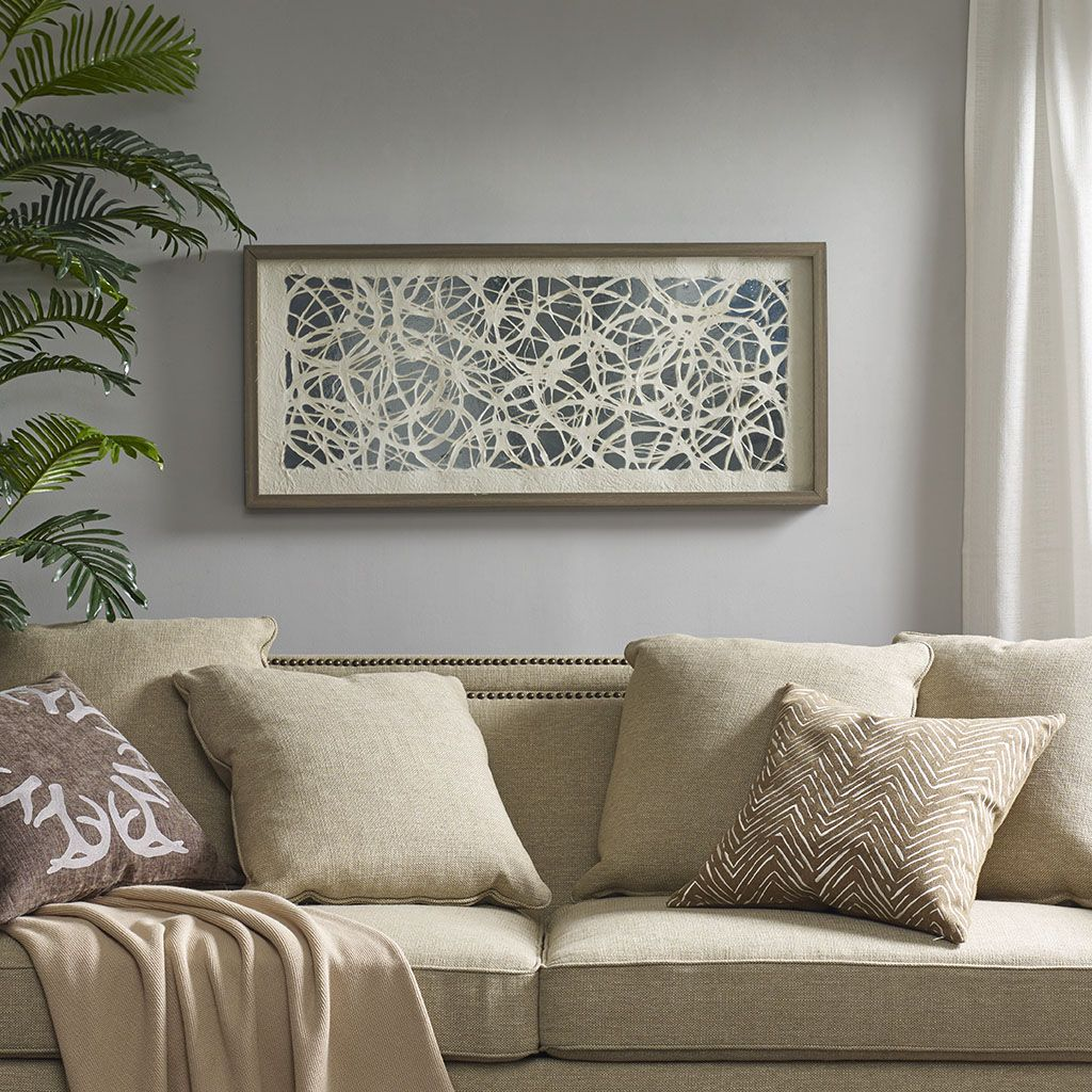 Accent Your Home With The Modern Flair Of Harbor House S Lattice Maze Rice Paper Framed And Place Under Glass Home Decor Dimensional Wall Art Paper Wall Decor