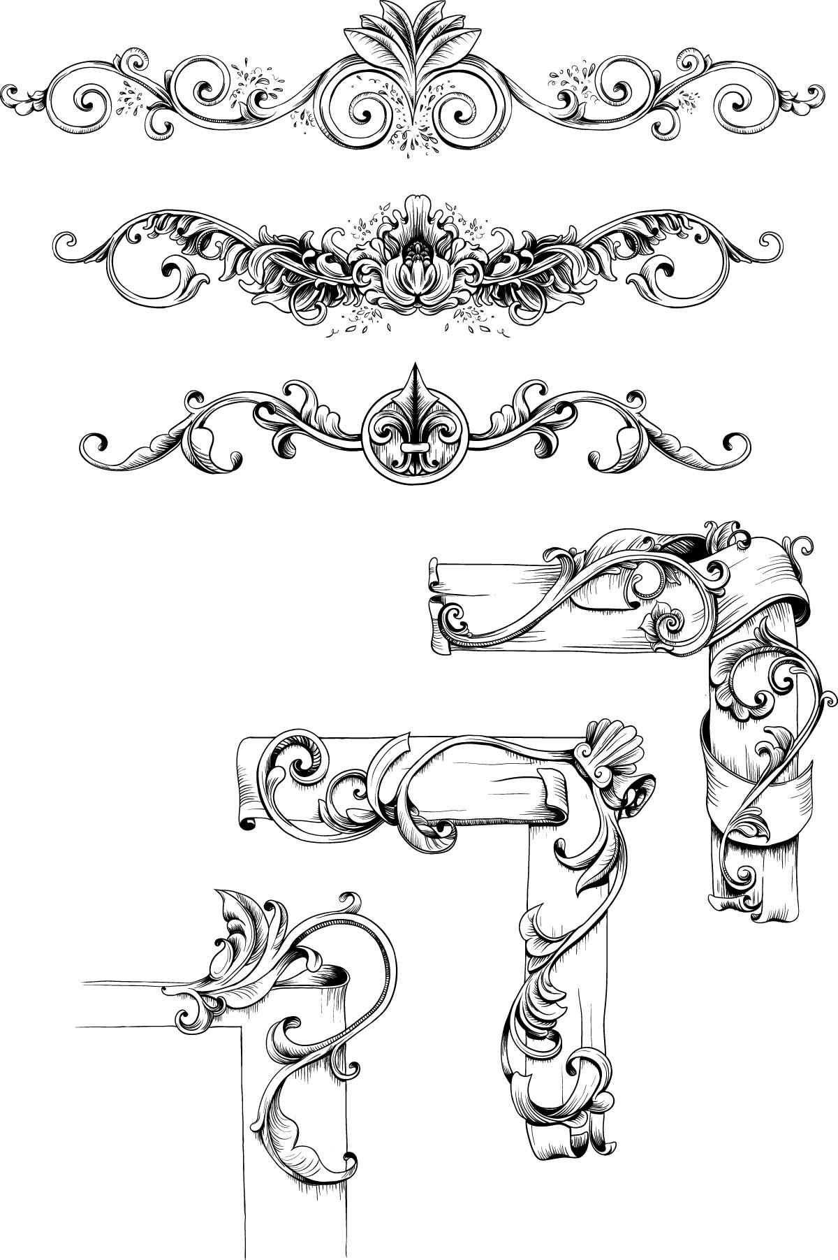 Vintage decorative elements set vector vintage vector free vintage decorative elements set vector free download junglespirit Choice Image