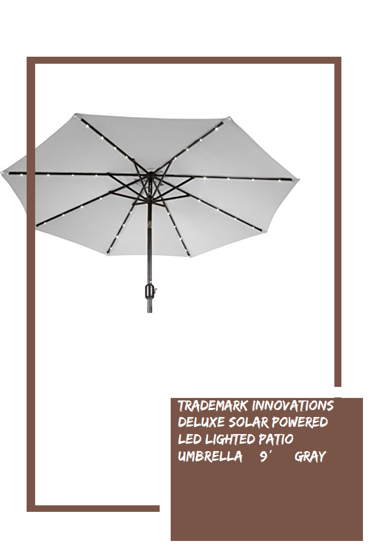 deluxe solar powered led lighted patio