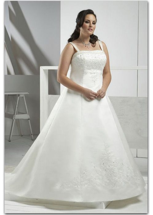 A-line (Princess) Silhouette Floor Length Lace Up Wedding Dress ...