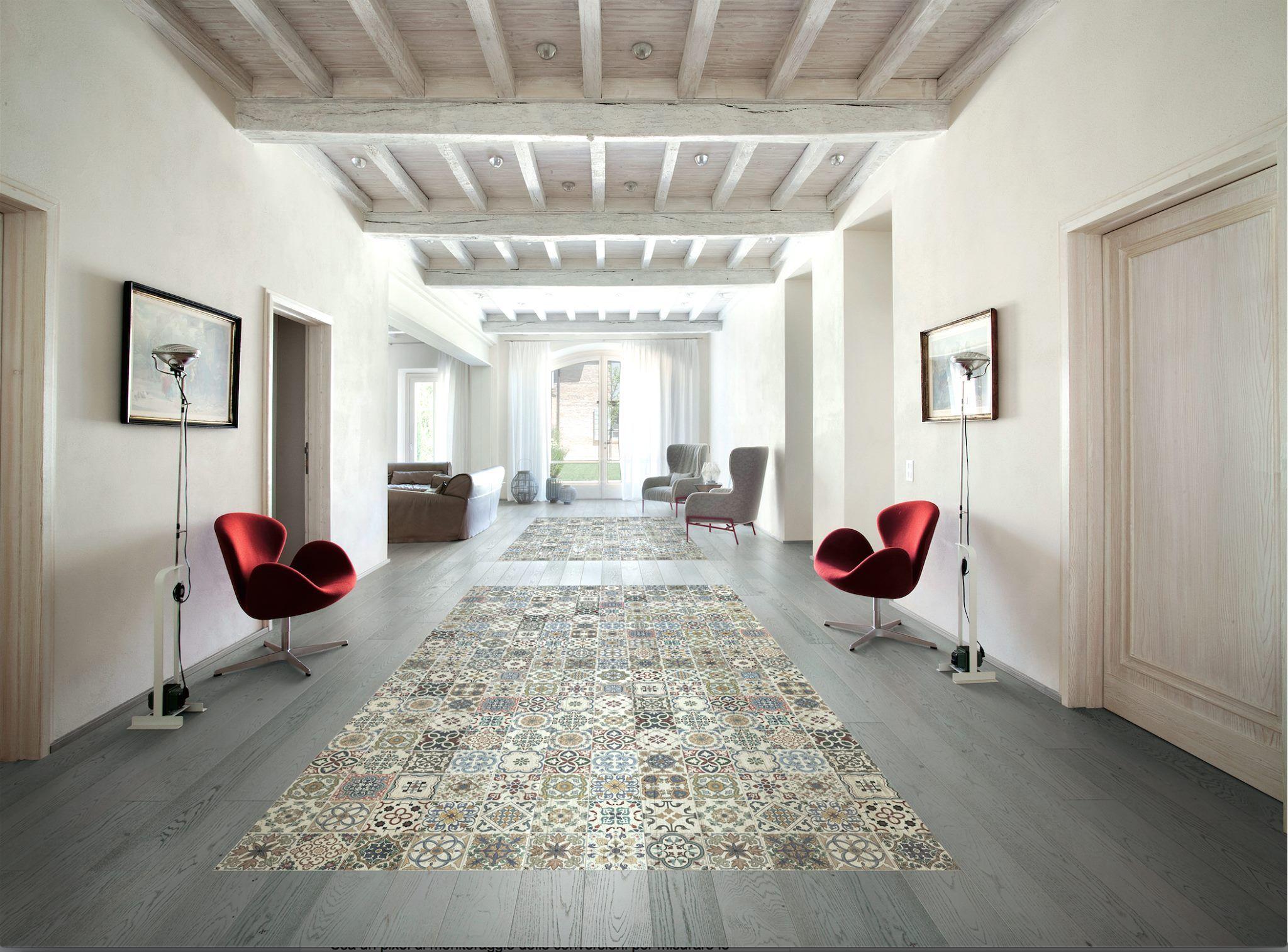 Il parquet diventa arredo kimono il pavimento decorato naturale senza presenza di sostanze - Piastrelle simili al parquet ...