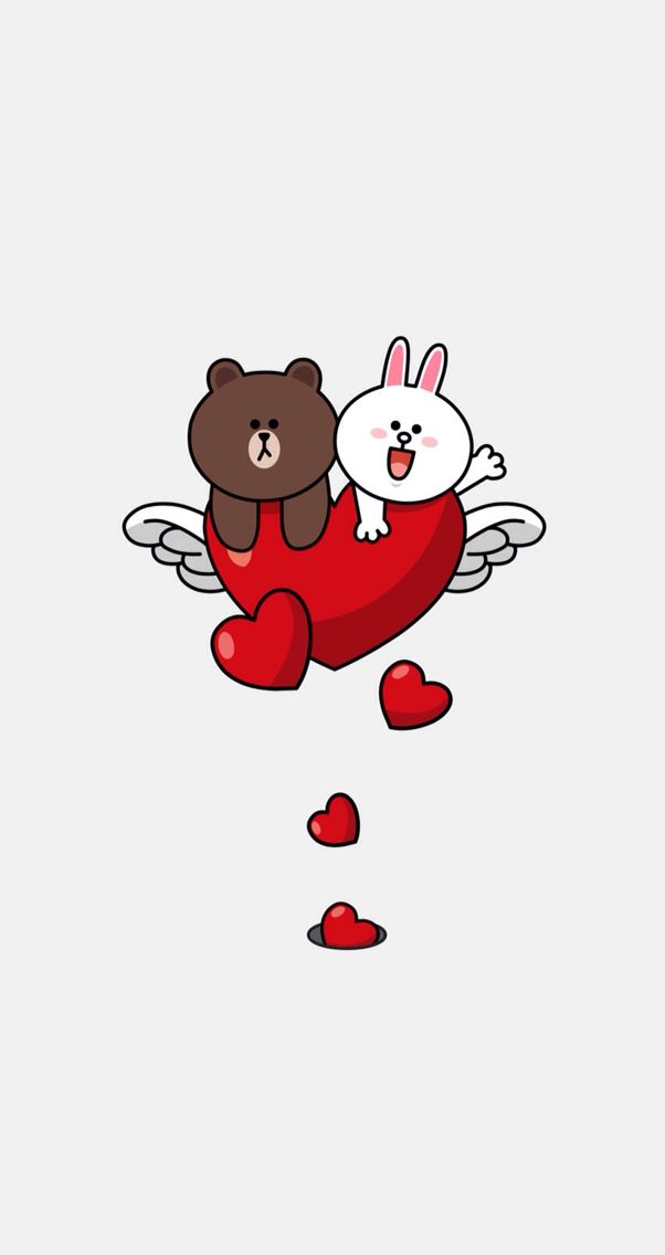 Love Wallpaper Line : Brown and cony, love love line brown cony Pinterest ...