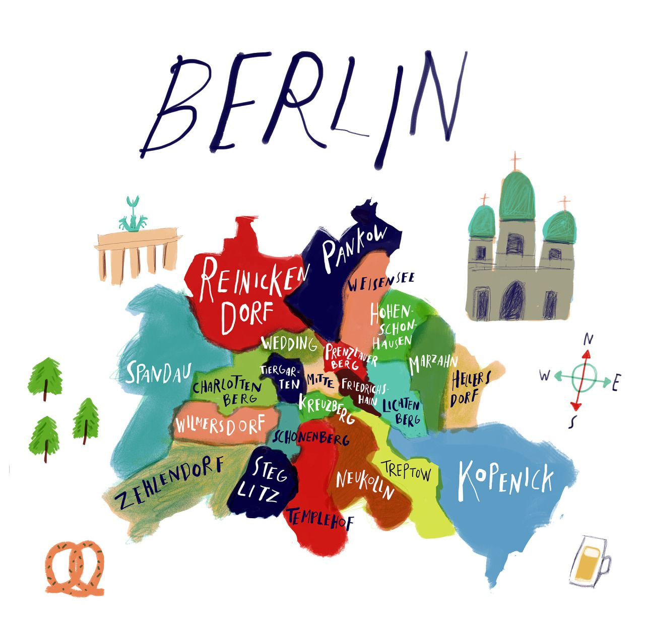 Sarah Green Berlin Map Go Pinterest Illustrations