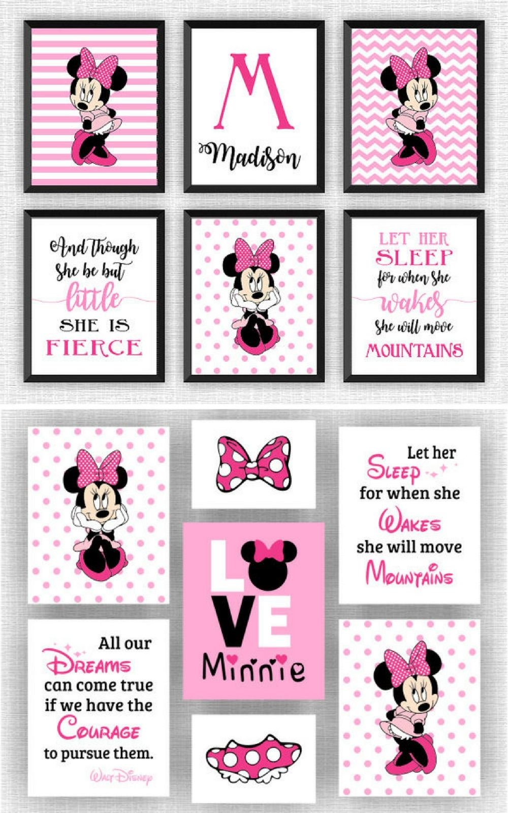 Minnie Mouse Printables So So Cute Minniemouse Affiliate
