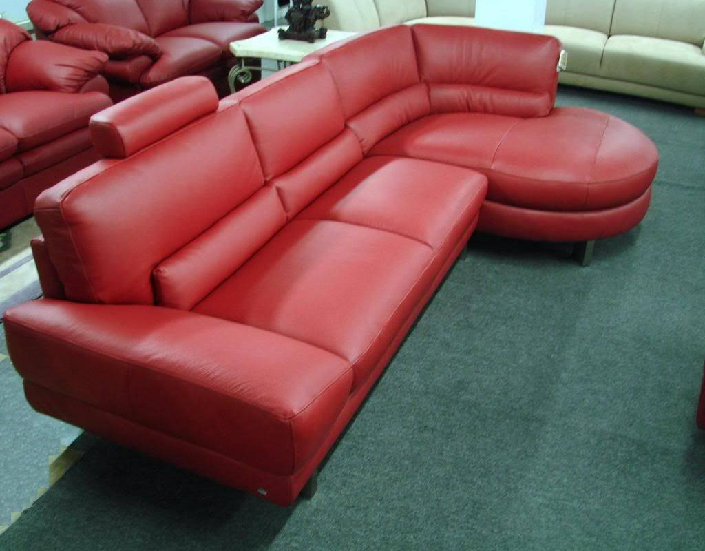 - 12 Pictures Of Excellent Red Leather Sofa Designs : Exceptional