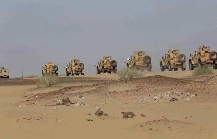 اخبار اليمن : عاجل : أرتال عسكرية ضخمة وتعزيزات جبارة للتحالف العربي تتجه الآن نحو أهم محافظة شمالية