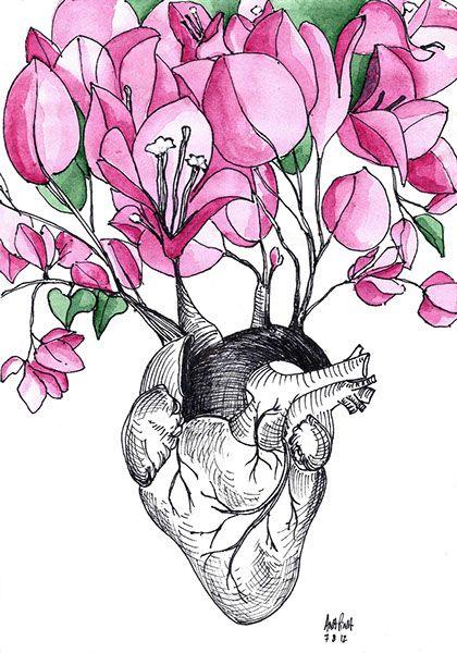 bougainvilles by ana pina | \'\'JAITEVA\'\' | Pinterest | Anatomía ...