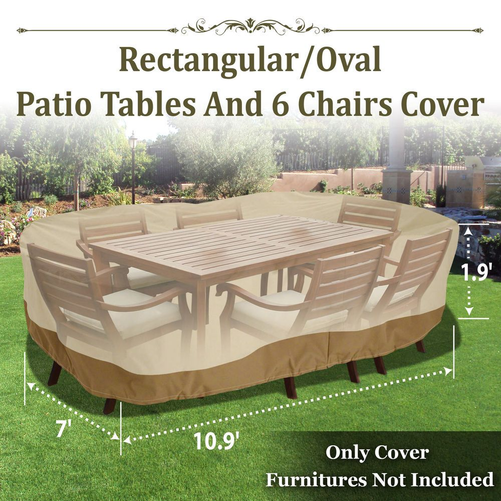Patio Garden Rectangular Oval Table Chair Cover Outdoor Furniture
