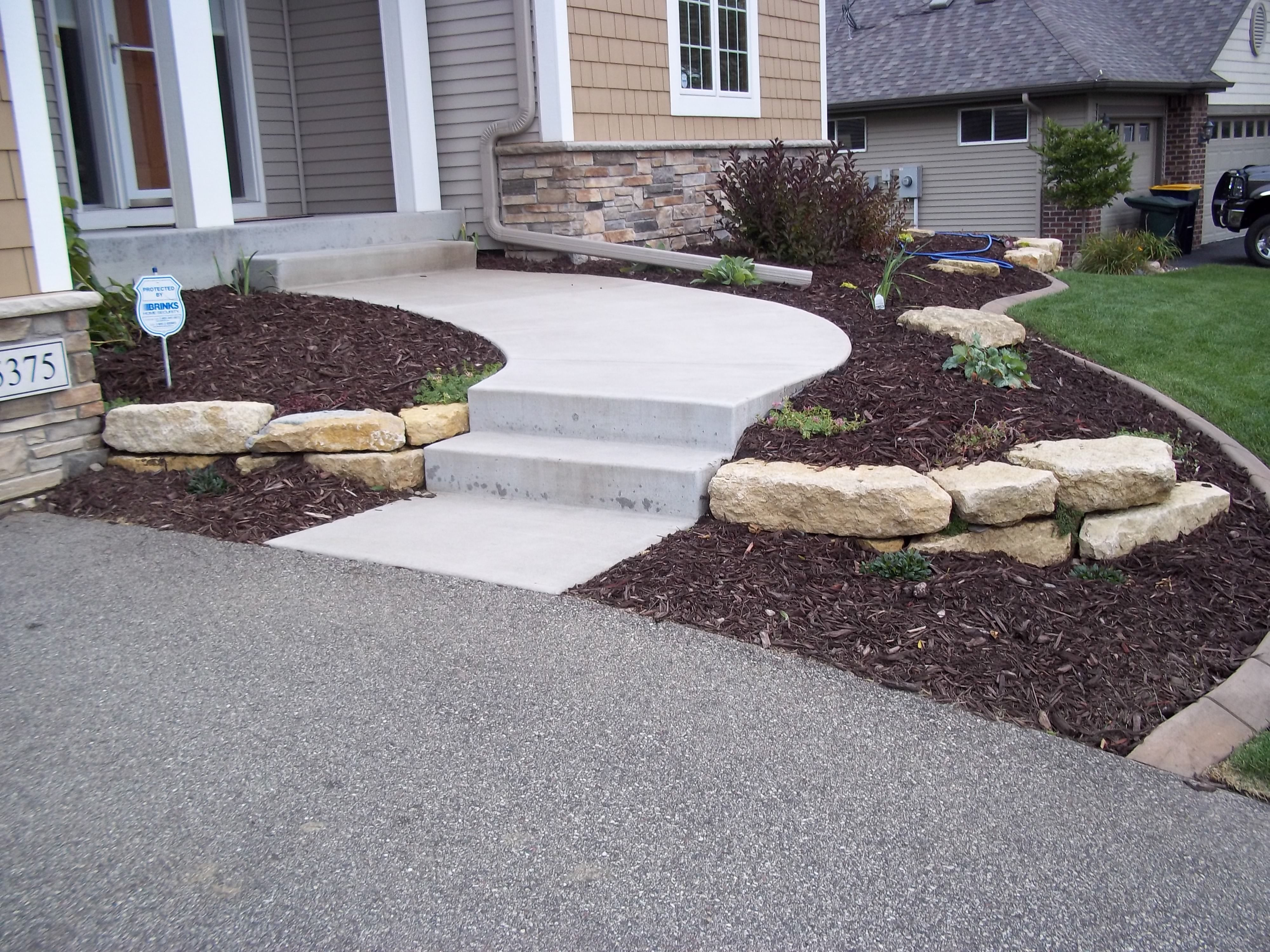 limestone outcropping decorative wall | gardening | pinterest