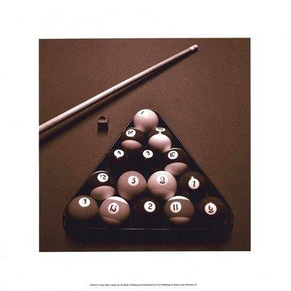 Pool Table I - Sepia by Jim Rush