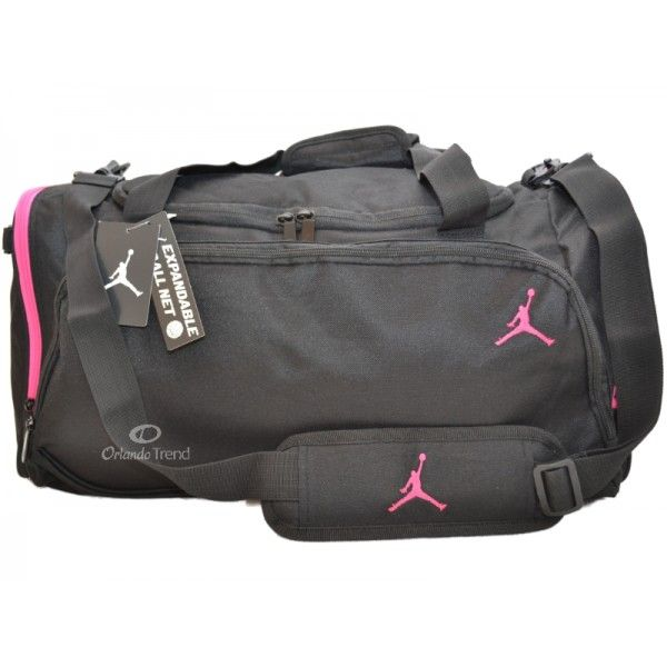 a16890b19f8e Nike Air Jordan Black and Pink Womens Large Duffel Bag at OrlandoTrend.com   OrlandoTrend  Nike  Jordan