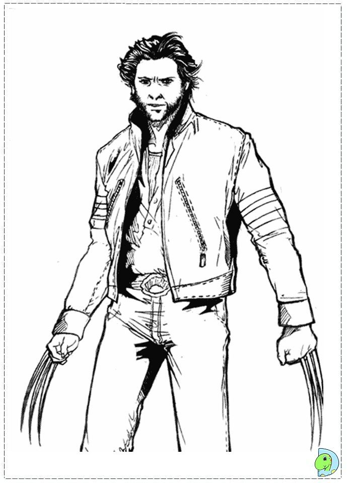 X Man Wolverine Coloring Pages Gambar